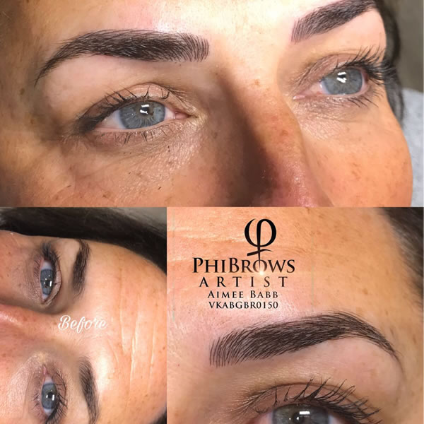 Phibrows Microblading before and after
